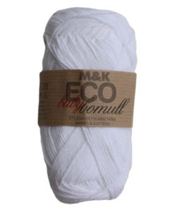 M&K Eco babybomull Vit - 912-879