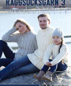 Raggsocksgarn Idéhäfte Familj 3 - 2076 Sticka för familjen! Flätstickade Tröjor Mössor till hela familjen med mera!