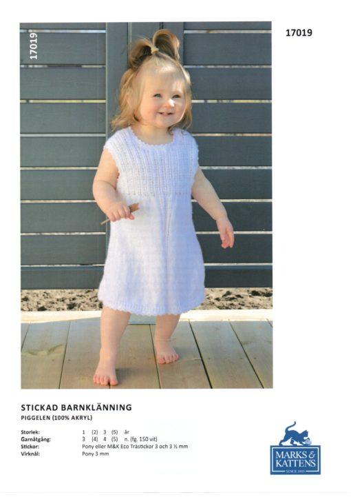 M&K Stickad Barnklänning Piggeleln 17019067
