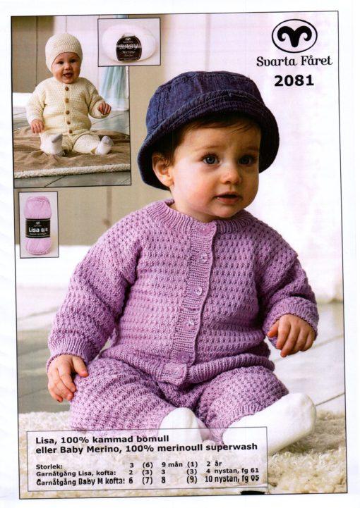 Svarta Lisa Babykofta,byxor och mössa 2081082