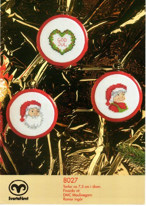 Svarta Fåret, Jul Tavlor 3st ca 7 5 cm i diam 8027220