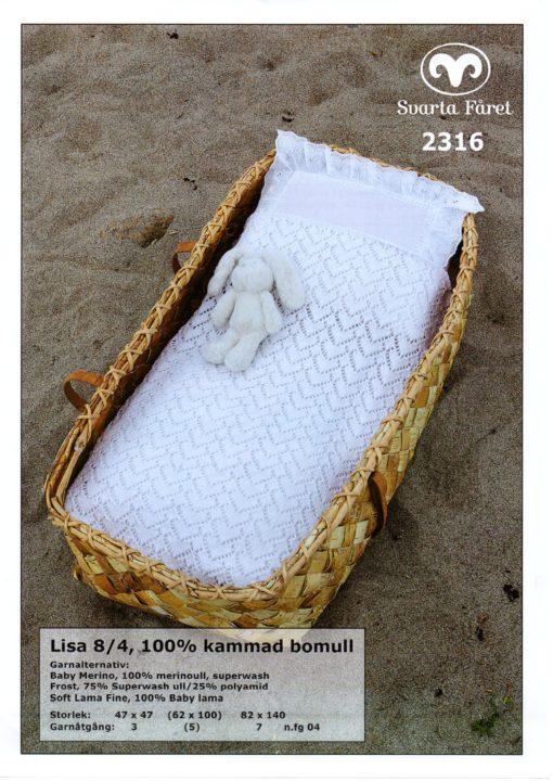 Svarta Fåret Lisa 8-4, 100% Kammad Bomull, Babyfilt -2316257