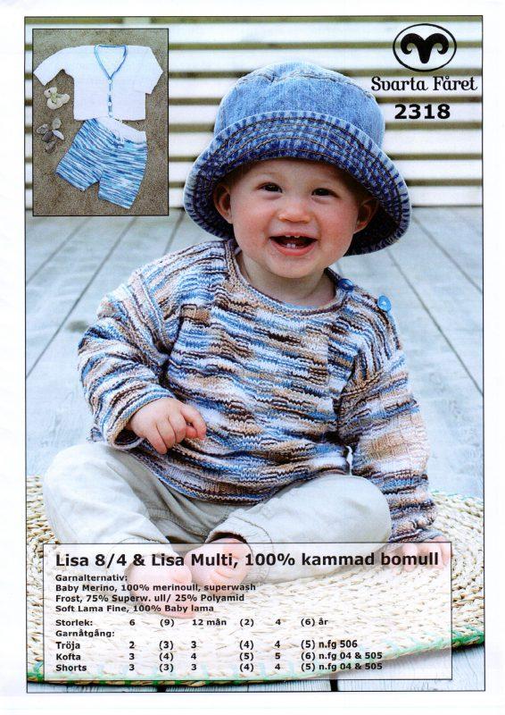 Svarta Fåret Lisa 8,4, 100% Kammad Bomull, Baby Tröja, Kofta, Shorts -2318258