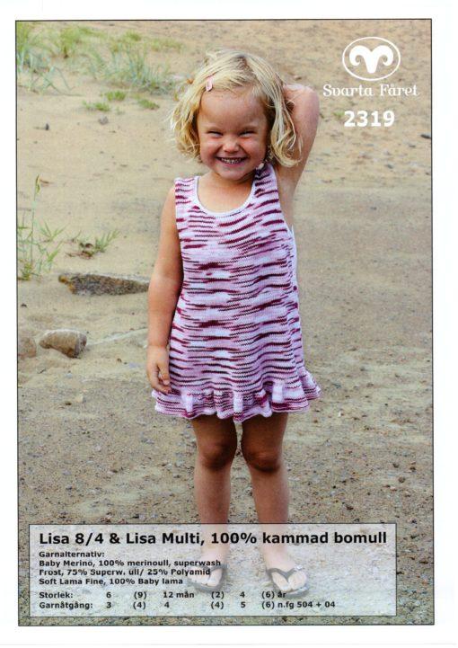 Svarta Fåret Lisa 8,4, 100% Kammad Bomull, Barn, Klänning -2319259
