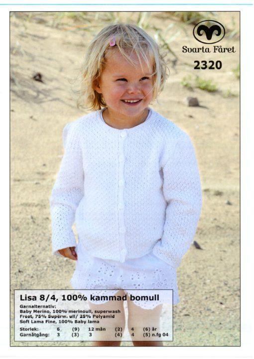 Svarta Fåret Lisa 8,4, 100% Kammad Bomull, Barn, Kofta -2320260
