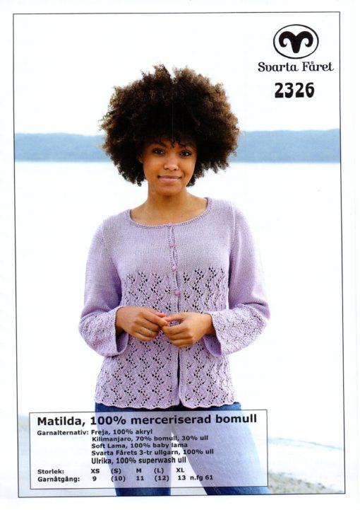 Svarta Fåret, Matilda, Garn 100% Bomull, Damkofta -2326278