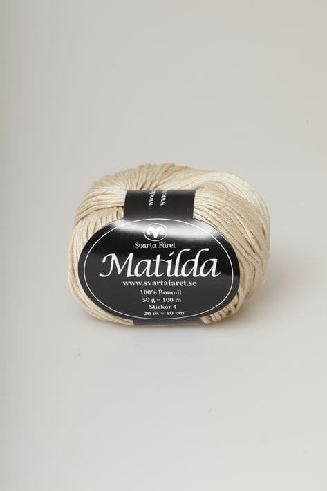 Svarta Fåret Garn 100% Bomull Matilda Beige – 07
