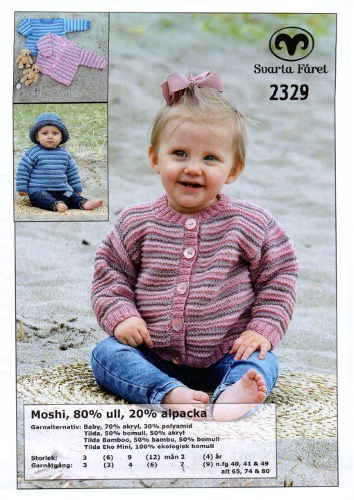 Svarta Fåret, Moshi, Garn 80% Ull 20% Alpacka Babytröja och kofta -2329305