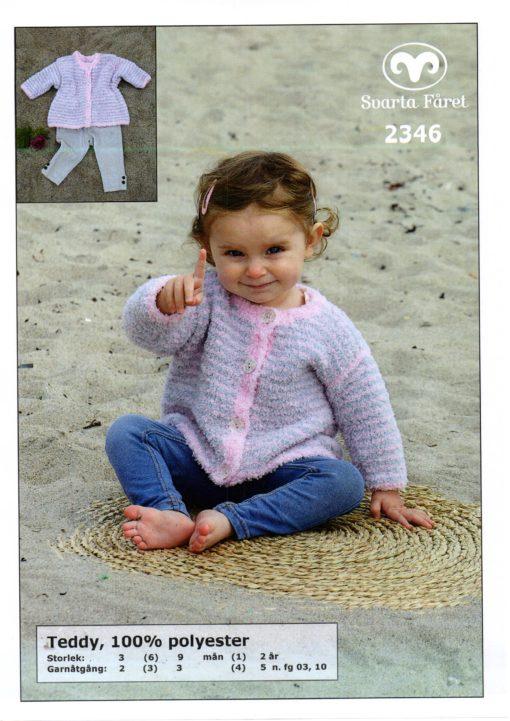 Svarta Fåret, Teddy, Garn 100% Polyester Babykofta-2346302
