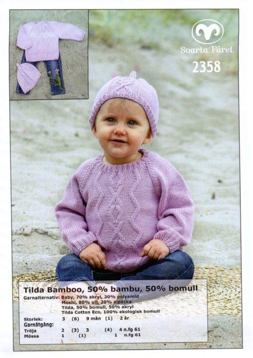 Svarta-Fåret-Tilda-Garn-50-Bomull-50-Akryl-Babytröja-och-mössa-2358298-1131×1600-min