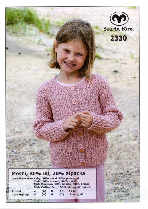 Svarta Fåret Moshi, Garn 80% Superwash ull, 20% Alpackal , Barnkofta-2330307
