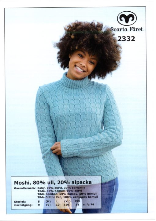 Svarta Fåret Moshi, Garn 80% Superwash ull, 20% Alpackal , Damtröja-2332309