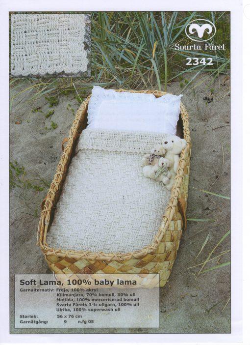 Svarta Fåret Soft Lama 100% Baby Lama Virkad Babyfilt 2342353