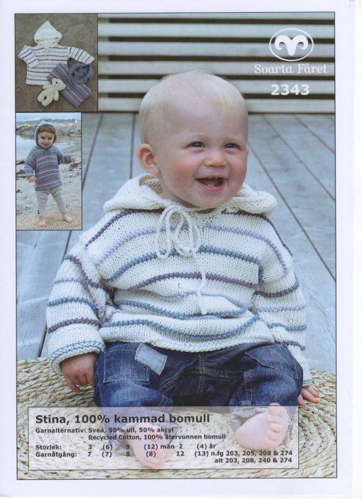 Svarta Fåret Stina 100% kammad bomull Baby o Barntröja med huva 2343354