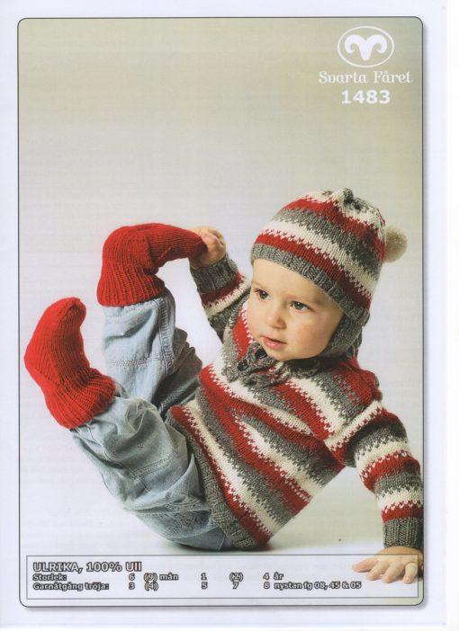 Svarta Fåret Ulrika100% Ull Baby o Barntröja Mössa och Sockor 1483339
