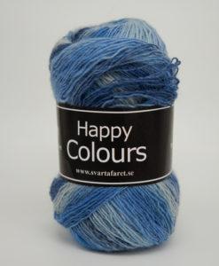 Garntorget Svarta Fåret Happy Colour Ljusblå Multi 01