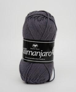 Garntorget Svarta Fåret Kilimanjaro Mörkgrå 309, 70% Bomull 30% Ull.Ett mjukt och härligt blandgarn med en blandning av bomull och ull. använd stickor 4 mm