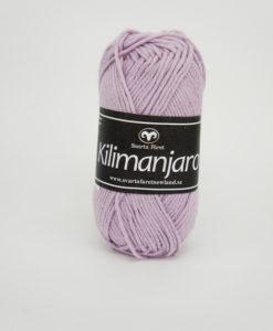 Garntorget Kilimanjaro Ljuslila 361 70% Bomull 30% Ull.Ett mjukt och härligt blandgarn med en blandning av bomull och ull. använd stickor 4 mm