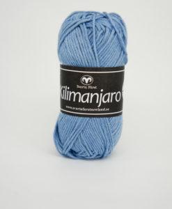 Garntorget Kilimanjaro Ljusblä 365, 70% Bomull 30% Ull.Ett mjukt och härligt blandgarn med en blandning av bomull och ull. använd stickor 4 mm