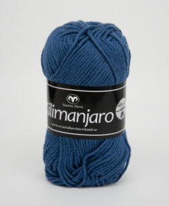 Garntorget Kilimanjaro Blå 366 70% Bomull 30% Ull.Ett mjukt och härligt blandgarn med en blandning av bomull och ull. använd stickor 4 mm