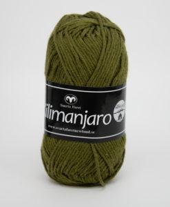 Garntorget Kilimanjaro Mörkgrön 385, 70% Bomull 30% Ull.Ett mjukt och härligt blandgarn med en blandning av bomull och ull. använd stickor 4 mm