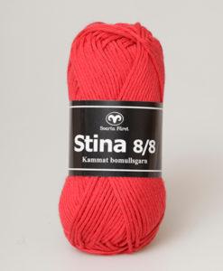 Svarta Fåret Stina 100% Kammad Bomull Röd - 245