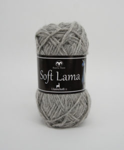 Garntorget Svarta Fåret Soft Lama Ljusgrå -03