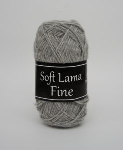 Garntorget Svarta Fåret Soft Lama Fine Ljusgrå - 903