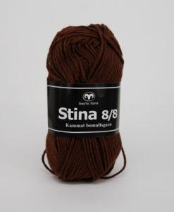 Svarta Fåret Stina 100% kammad bomull Röd/brun - 223