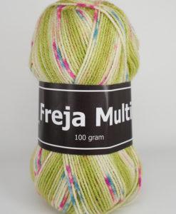 Freja Multi 100% Akryl Grön/Vit/Rosa - 311 - Svarta Fåret - Garntorget