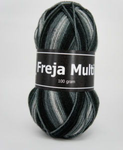 Garntorget Freja Multi 100% Akryl Grå/Svart - 301