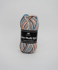 Garntorget Lisa 8/4 Multi Begie/Brun/Blå Multi - 506