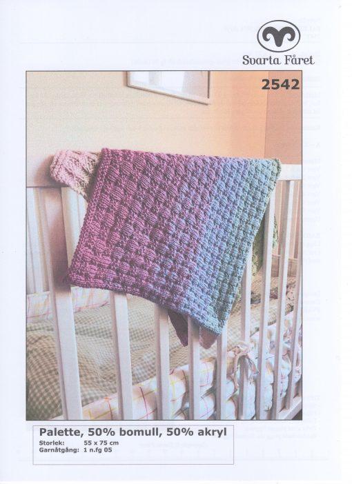 Svarta Fåret Palette 50% Akryl 50% Bomull , Babyfilt 2542378