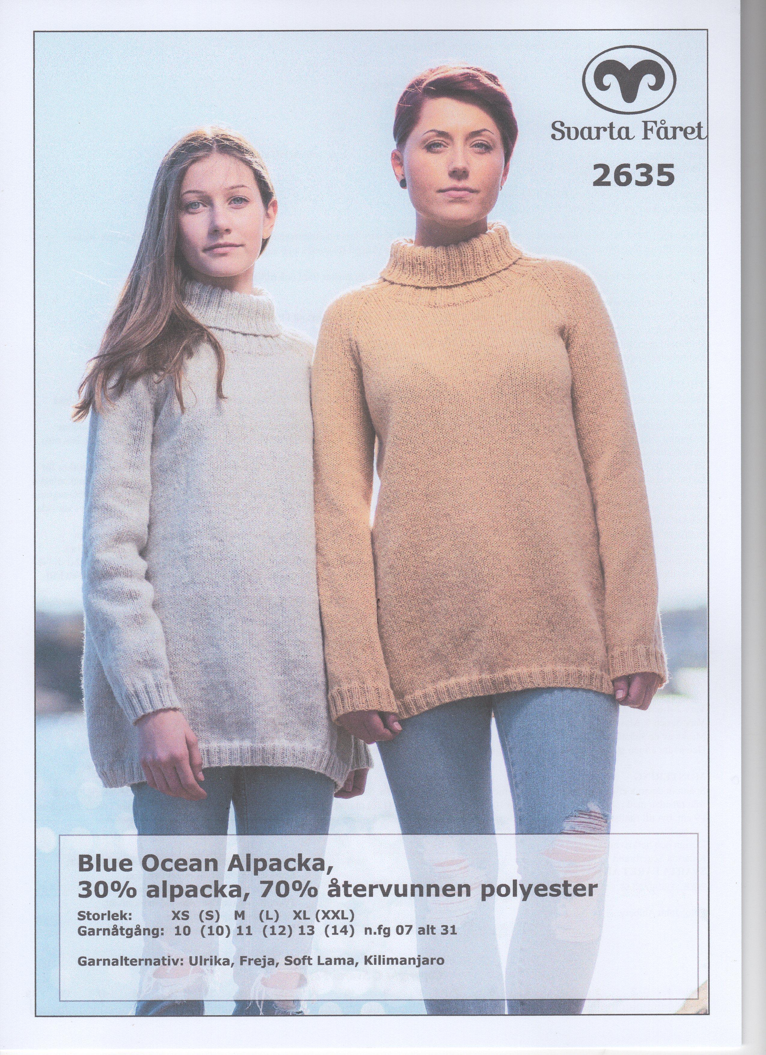 Blue Ocean Alpacka A Formad Damtröja 2635 Garntorget