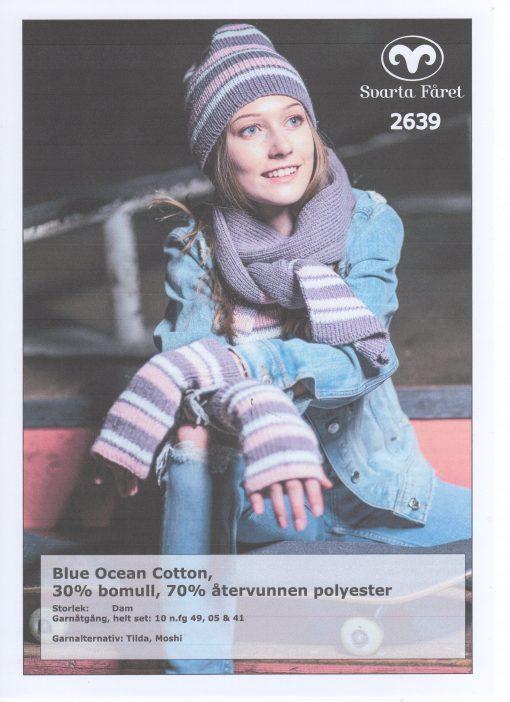 Svarta Fåret Blue Ocean Cotton, 30% Bomull 70% Återvunnen Polyester , Mössa, Halsduk, och Ärmmuddar 2639405
