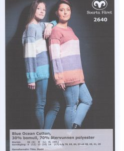 Blue Ocean Cotton Randig Damtröja