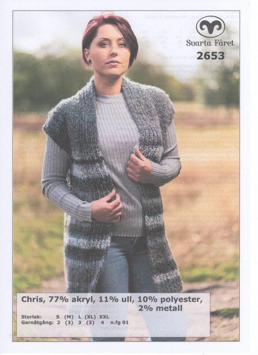 Chris 77% Akryl, 11%Ull, 10%Polyester, 2%Metall Långväst Svarta Fåret Garntorget 2653463