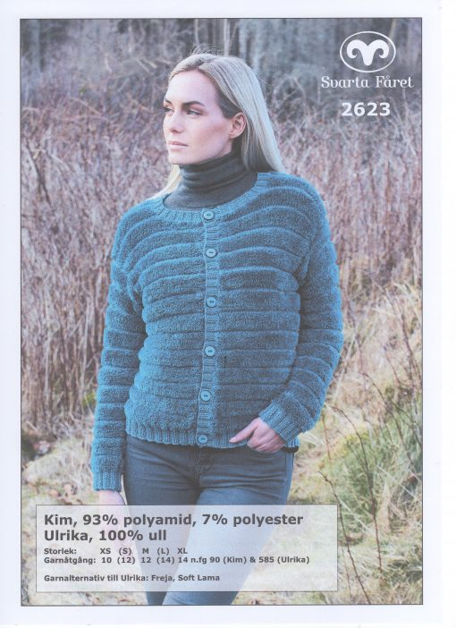 Kim Damjacka 93% polyester 7% polyamid Svarta Fåret Garntorget 2623416