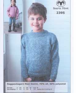 Raggsocksgarn Maxi Denim Barntröja - 2395 - Garntorget