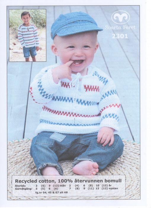 Recycled Cotton 100% återvunnen bomull pippitröja baby Svarta Fåret Garntorget 2301423