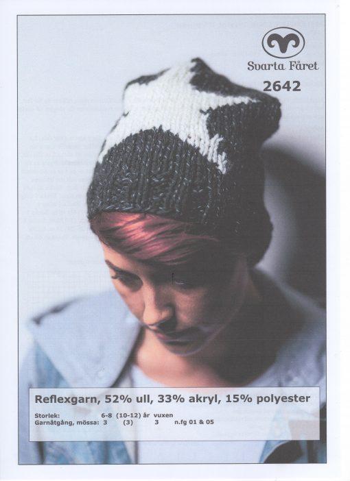 Refleksgarn 52% ull 33% akryl 15% polyester Dammössa med stjärna Svarta Fåret Garntorget 2642432