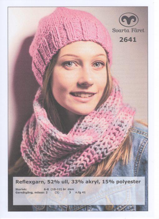 Refleksgarn 52% ull 33% akryl 15% polyester Dammössa och halsring Svarta Fåret Garntorget 2641431