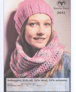 Mössa och Halsring Reflexgarn- 2641 Garntorget Storlek: Mössa: 6-8 (10-12) år Dam Garnåtgång: 2 (3) 3 n.fg 41 (rosa) Storlek: Halsring Barn Dam Längd: ca 50 (60) cm Garnåtgång: 1 (2) n.fg 1 (rosa) 1 (1) n.fg 2 (ljusrosa 40) 1 (1) n.fg 3 (grå 09) Stickor: Svarta Fåret 8mm (halsring) Rundsticka: Svarta Fåret 5,5 och 6mm 40cm (mössa) Strumpstickor: Svarta Fåret 6mm (mössa)