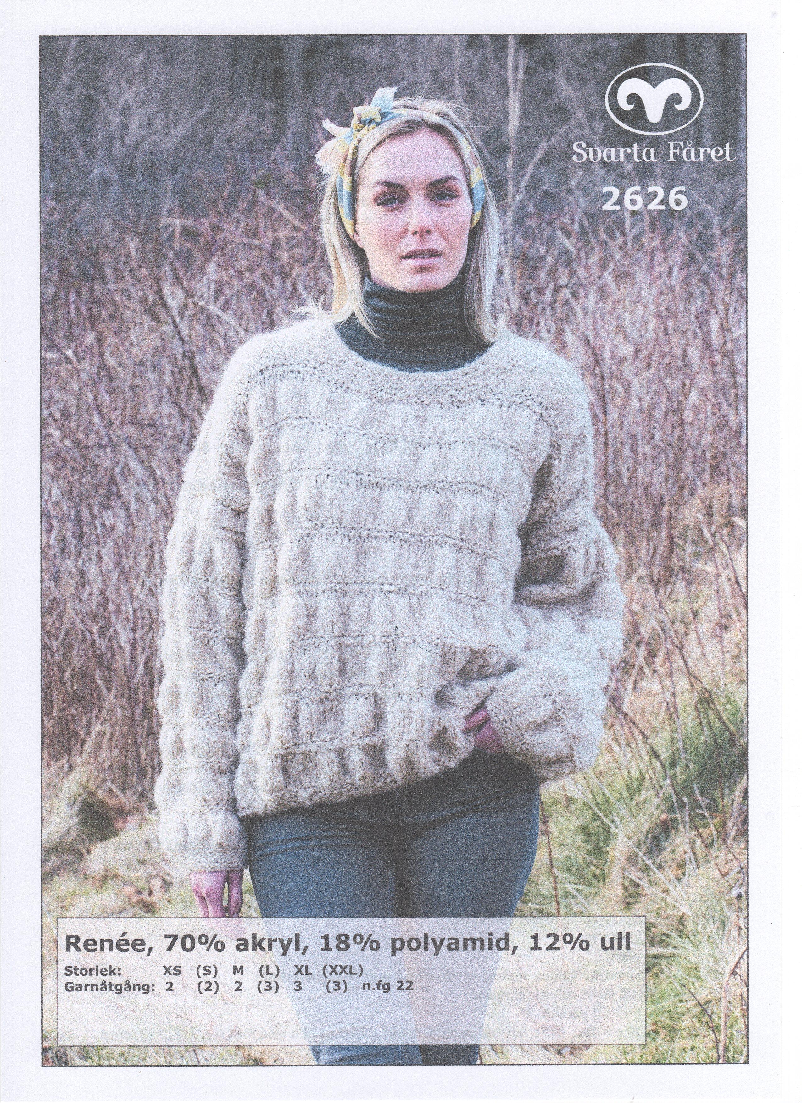Renee Bubbelstickad Tröja 2626 Garntorget Garntorget