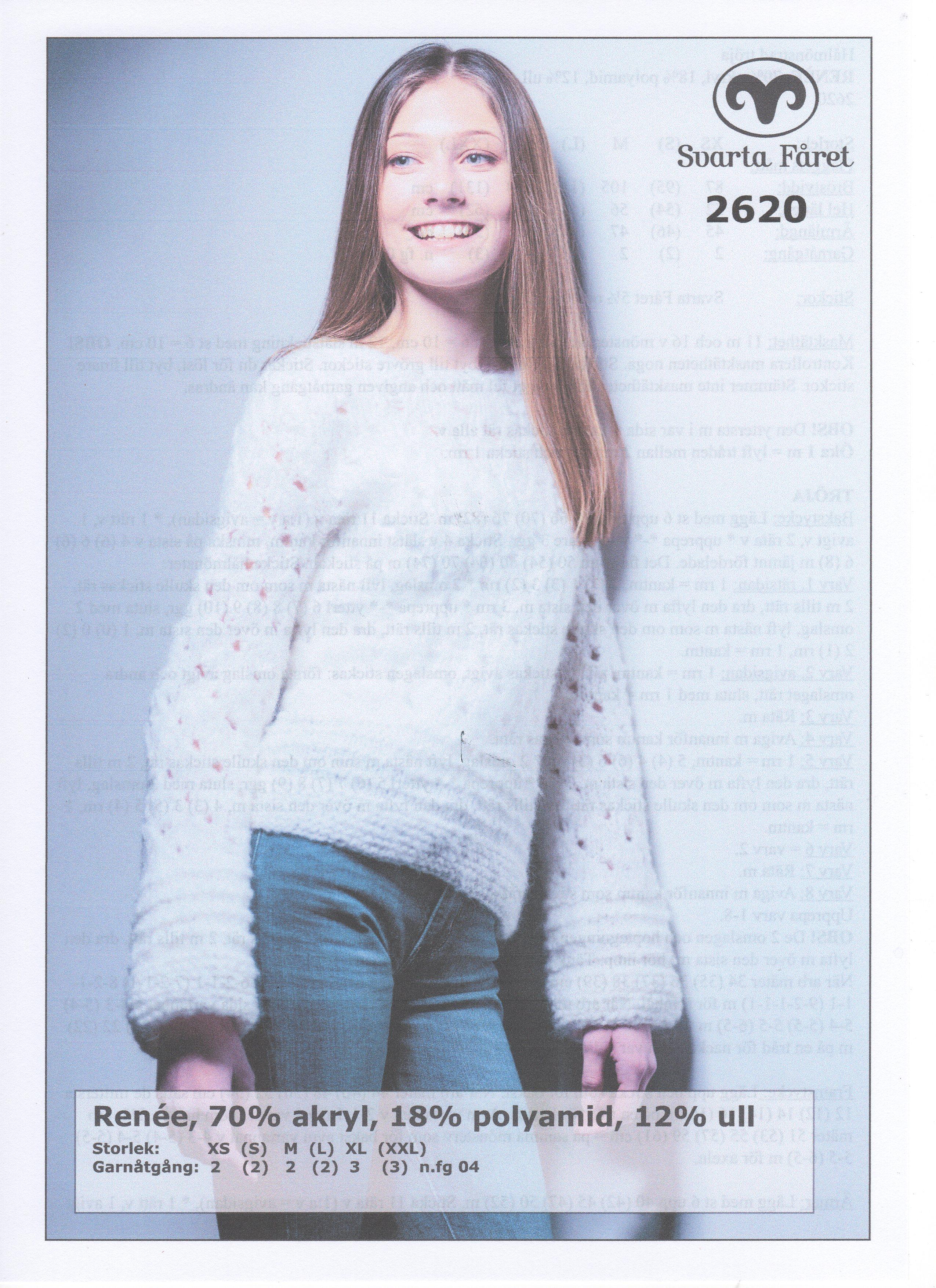 Renee Hålmönstrad Tröja 2620 Garntorget Garntorget