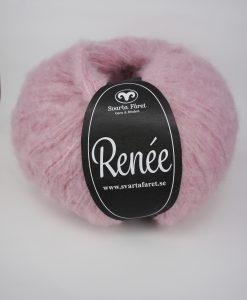 Renee Rosa 40 Garntorget Renée från Svarta Fåret är ett riktigt mjukt och fluffigt garn som passar till stora, härliga tröjor och accessoarer. Finns i fyra trendiga färger. Nystan: 200 g = Ca 590 m. Kvalité: 70% akryl, 18% polyamid och 12% ull. Stickfasthet: 12m/18v=10 cm. Rekommenderade stickor: 6 mm.Tvättråd: 30 grader. Sticka Hålmönstrad Tröja, Patentstickad Raglantröja, Bubbelstickad Tröja Flä och Spetsmönstrad tröja Tröja.