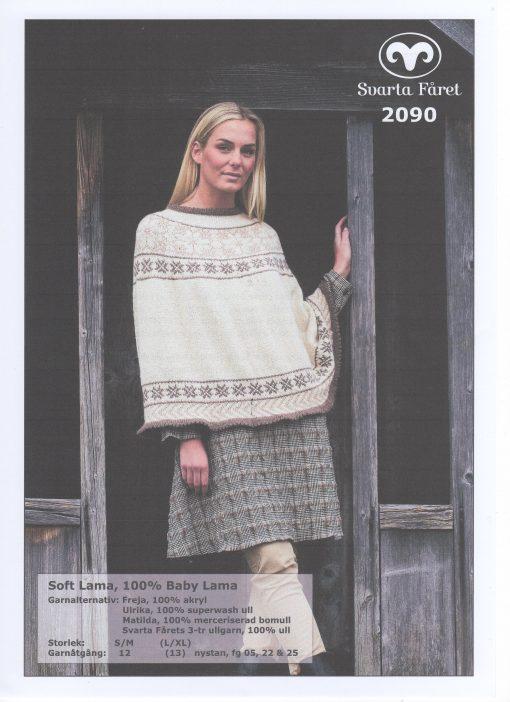Soft Lama 100% Baby Lama Poncho Svarta Fåret Garntorget 2090454