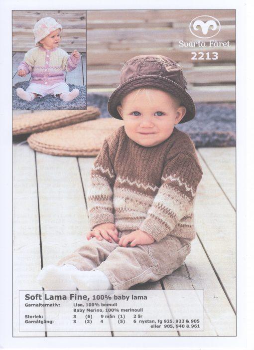 Soft Lama Fine 100% Baby Lama Babytröja och Kofta Svarta Fåret Garntorget 2213460