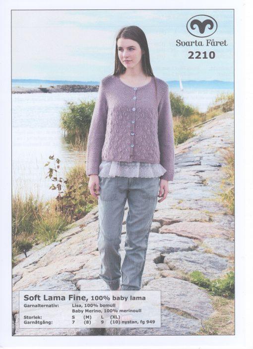 Soft Lama Fine 100% Baby Lama Damkofta Svarta Fåret Garntorget 2210457