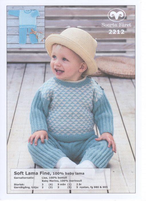 Soft Lama Fine 100% Baby Lama Tröja och Byxa Svarta Fåret Garntorget 2212459